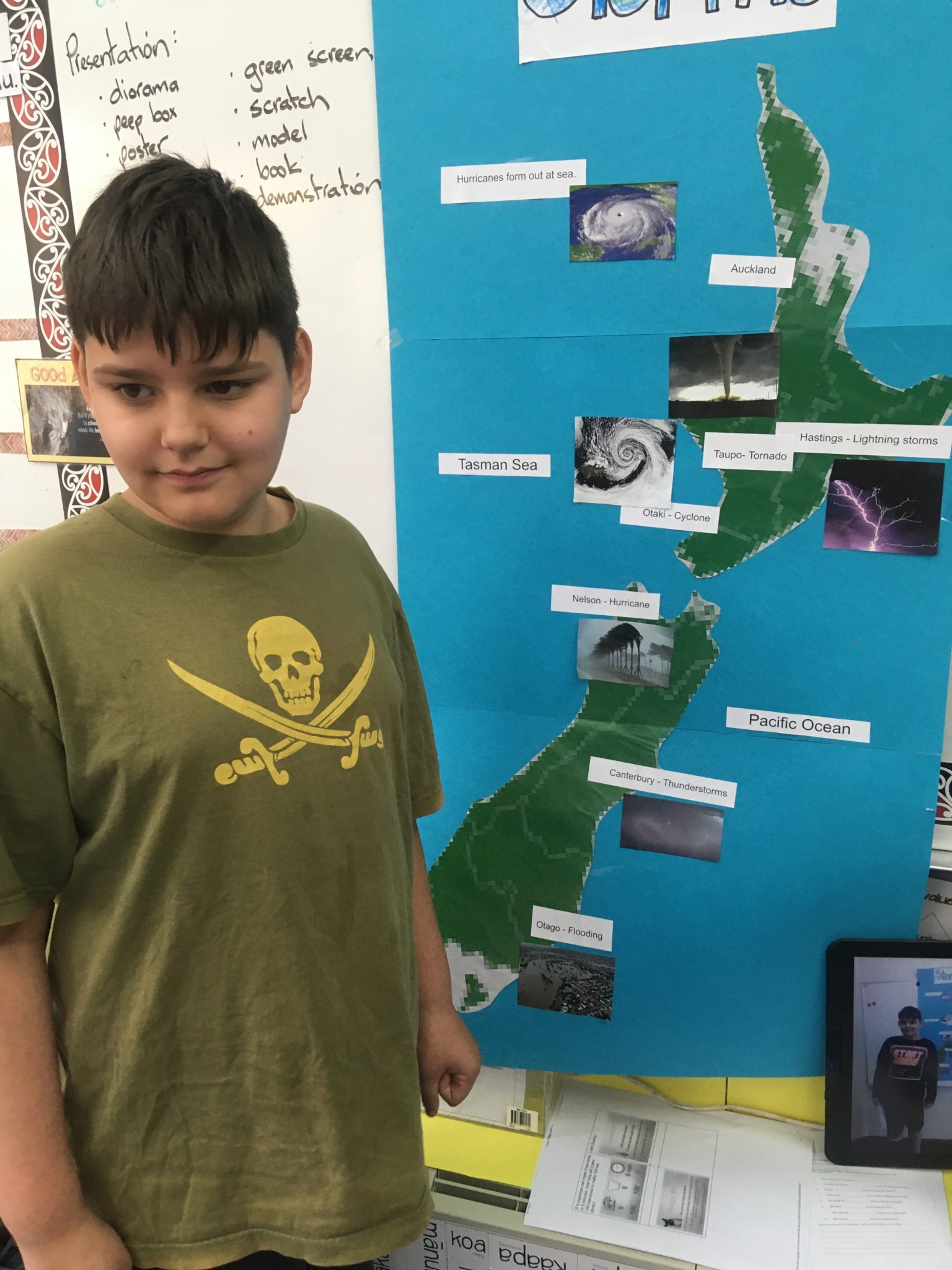 Weather research project, Levin East School